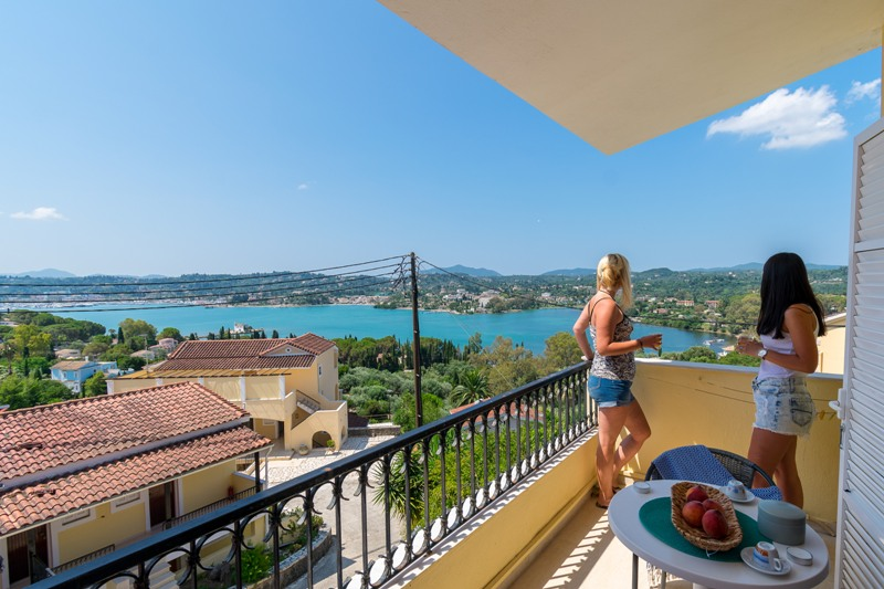 elite corfu sea view room